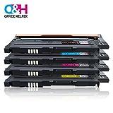 OFFICE HELPER CLT-P406C Toner Tonerkartuschen Kompatibel für Samsung Printer Xpress CLP-360 CLP-360N CLP-365 CLP-365W CLP-368 CLX-3300 CLX-3305 CLX-3305FN CLX-3305N CLX-3305W CLX-3305FW C410W C460FW