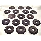 Sunsara - Blue Goldstone Healing Crystal Donut Pendant, 1.6 Inch (40 mm)