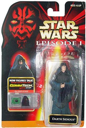 "Preisvergleich Produktbild Darth Sidious + Commtalk Chip - Star Wars Episode I ""The Phantom Menace"" Collection von Hasbro"