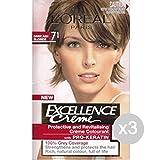 Set 3 EXCELLENCE 7.1 Aschblond Haarfarbe Und Farbe