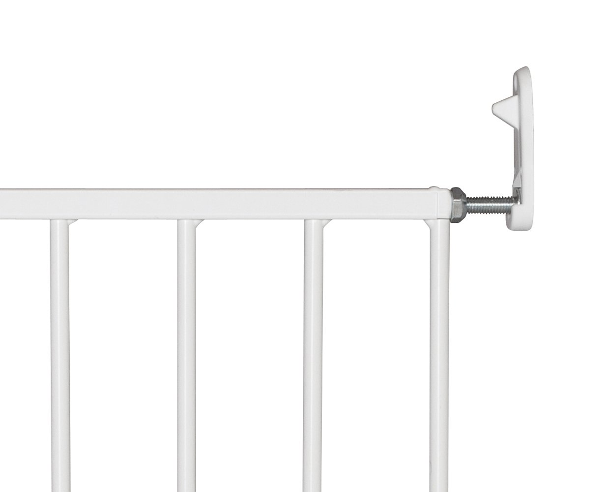 BabyDan No Trip Screw Mounted Safety Gate, White