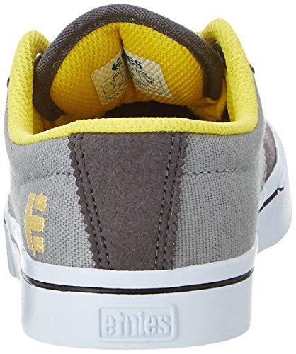 Etnies Kids Jameson 2 Eco, chaussons d'intérieur mixte enfant Grau (Grey/Yellow)