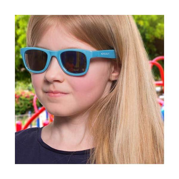 KOOLSUN - Gafas de sol para niños (1-5 años, acuario blanco) 3