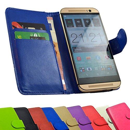 2 in 1 set Medion Life X5020 Smartphone - Handyhülle Handy Tasche Slide Kleber Schutz Case Cover Etui Schutzhülle Handytasche Book Style + Touch PEN in Blau Farbe