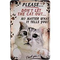 Kiffende Katze Funny Schild Cat 20x30 cm Blechschild 1609 Oh Mist erwischt