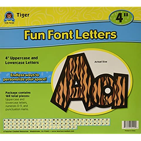 Insegnante Creato risorse 4inch Fun Font lettere tigrato