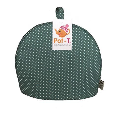 Pot-T Isolierter Teewärmer Cozy in Blaugrün Spot (Standard (22cm (H) X 9cm (D) X 26,5cm (L))) Pott Spot
