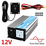 GIANDEL Pure Sine Wave Power Inverter 1000W DC 12V to AC230V with Remote