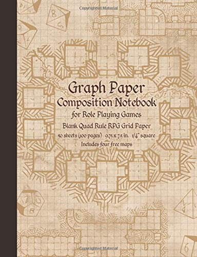 Graph Paper Composition Notebook for Role Playing Games: Blank Quad Rule RPG Grid Paper (Dungeon Map RPG Game Series, Band 1) - Game Rpg Master