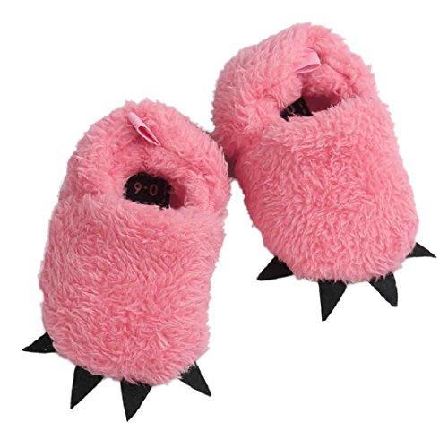 Saingace Baby Cotton Filles Garçons Chaussures Antidérapants Chaussures Souples (13(12-18mois), Rose) Rouge pastèque