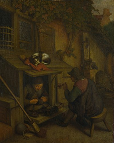 the-museum-outlet-after-adriaen-van-ostade-a-cobbler-stretched-canvas-gallery-wrapped-38x48