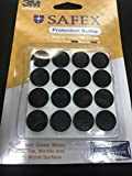 #10: Silicon Protection Buffer with superstong 3M adhesive - Round 16mm Diameter (Black) --32 PCS