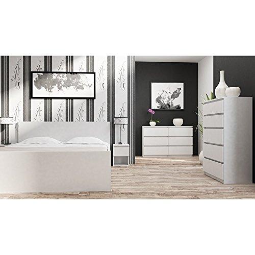 Kommode mit 6 Schubladen Sideboard Mehrzweckschrank Anrichte Diele Flur Esszimmer Wohnzimmer Weiß - 4