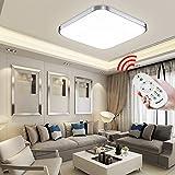 Hengda® 24W LED Deckenleuchte Dimmbar Fernbedienung Moderne 160-2160LM Esszimmer Deckenbeleuchtung IP44 Badezimmer geeignet