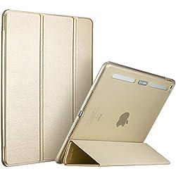 ESR Coque pour iPad Air 2, Smart Case Cover Housse Etui Coque de Protection Anti-Choc Anti-Rayures avec Fermeture Magnétique Veille Automatique pour iPad Air 2 6e génération (Or)