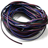 Tesfish 10M RGB Câble de fil de Câble d'extension de 4 broches pour 5050 3528 Bande de RGB de LED
