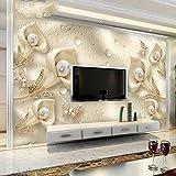 LZK 5D dreidimensionales Relief im europäischen Stil Wohnzimmer TV Hintergrund Wand Papier einfaches Schlafzimmer nahtlose 3D Wallpaper Wand Wandverkleidung,Golden,1