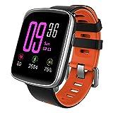Nanle IP68 imprägniern Sie Fitness-Verfolger-Bluetooth Intelligente Uhr-Eignungs-Verfolger-Uhr mit Pulsmesser-Schrittzähler-Schlaf-Monitor-Stoppuhr-SMS Anruf-Mitteilung (Farbe : Red)