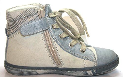 Cherie 380 Kinder Schuhe Jungen Stiefelette Offwhite/Blue