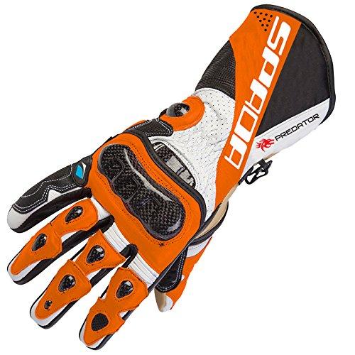 Spada Predator 2Leder Sommer Motorrad Handschuhe Race–Orange