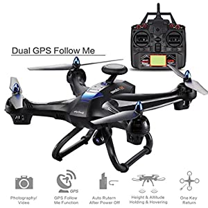Wawer Global Drone X183 With 5GHz WiFi FPV 1080P Camera GPS Brushless Quadcopter Control Distance: 400m from Plastic
