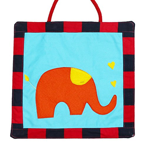 Kadambaby Kids Room Decor,gift for Kids, wall hanging, Elephant orange