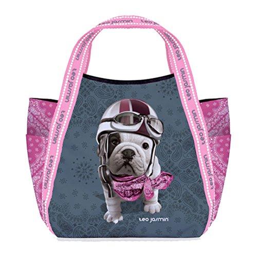 Petit sac shopping Téo Jasmin - Racing Gris
