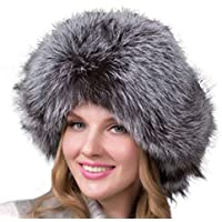 FENICAL Sombrero de Piel montañés Mujeres Moda Estilo Gorro de Invierno cálido para Mujeres niñas (Plata)