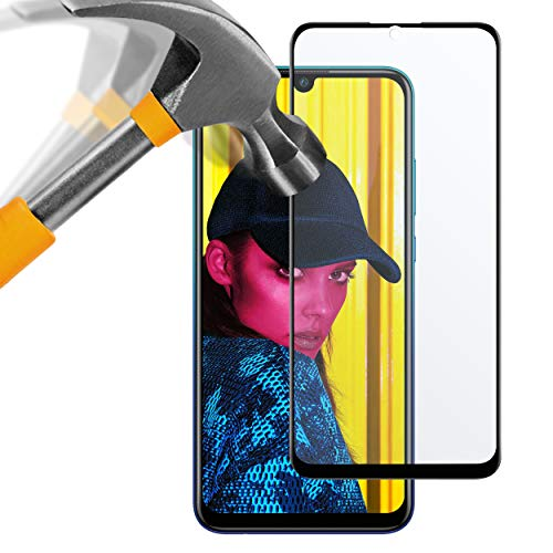 moodie Panzerglas 3D Folie für Huawei P Smart 2019 - Premium Glasfolie für Gewölbte Displays - Full Screen 3D Panzerglasfolie Curved - Full Cover vollständige Display Abdeckung