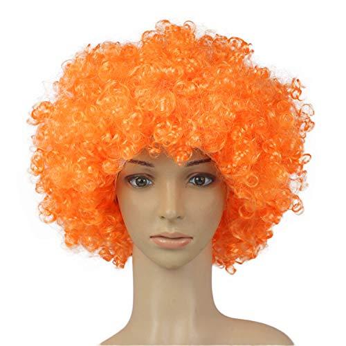 Mitlfuny Karnevals Make-up Fastnacht & Mottopartys,Partei-Disco-lustige Afro-Clown-Haar-Fußball-Fan-Erwachsener Afro-Maskerade-Haar-Perücke