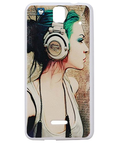 Music GirlExclusive Rubberised Back Case cover For Micromax A190 Canvas HD Plus/ A 190