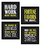 Best Frames With Quotes - Sifty Collections 4 Piece Set of Framed Wooden Review
