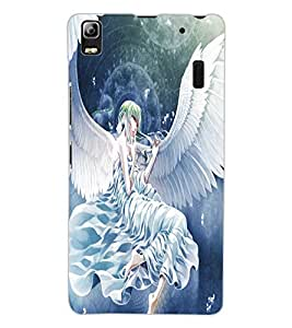 ColourCraft Angel Design Back Case Cover for LENOVO A7000