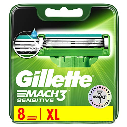 Gillette MACH3Sensible Haut Rasierklingen für Herren/8Refill (Gillette Sensitive Rasierklingen)