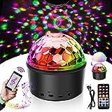 Discokugel LED Nachtlicht Kinder SOLMORE Disco Licht Disco Lichteffekt Timing-Funktion 9 Farbe mit Fernbedienung & USB für Kinder Halloween Weihnachten Geburtstag Karaoke Club Bar Zimmer