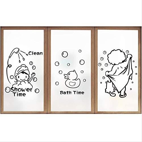 mailang Cartoon Charakter Glasfolie Bad Küche Peeling Schatten Haushalt Fenster Aufkleber 60 * 88 cm 3 Stück
