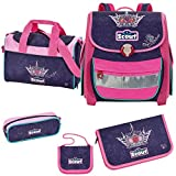 Scout Limitiert Buddy Schulranzen-Set 5-tlg Blue Princess 088 blue princess