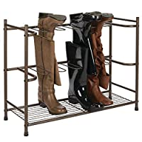 mDesign Boot Rack for 6 Pairs of Boots - Boot and Shoe Storage Made Easy - Shoe Organiser for Wellingtons, Riding Boots and Dress Boots