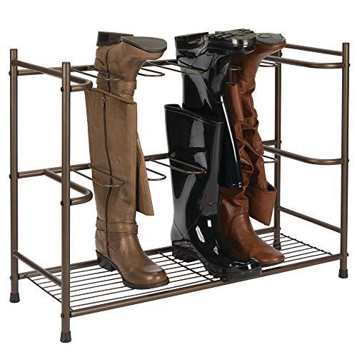MDesign Zapatero para botas - Estante organizador de zapatos y botas altas - Mueble zapatero ahorrador...
