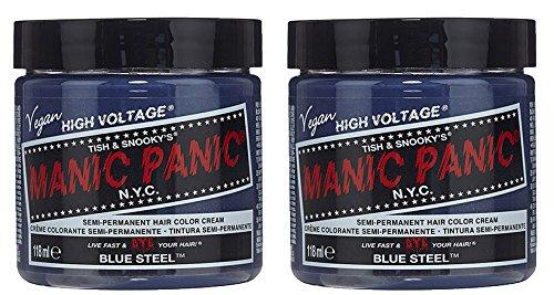 Voltage Classic Cream Formula Hair Color Blue Steel 118ml by Manic Panic (Manic Haare Färben)