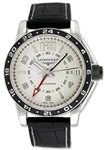 Longines Admiral GMT Dual Time Automatic Steel Mens Watch Date L3.668.4.76.2