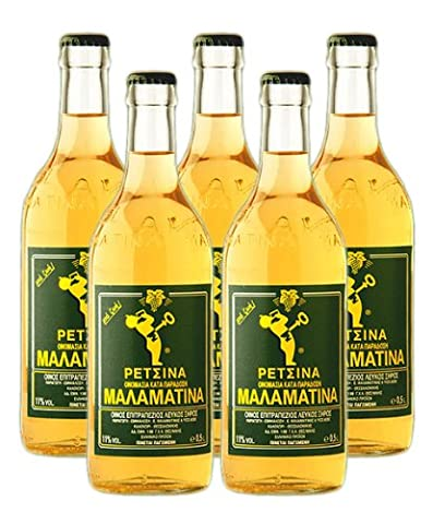 Malamatina Retsina 5er Pack, (5 x 500ml Flasche)