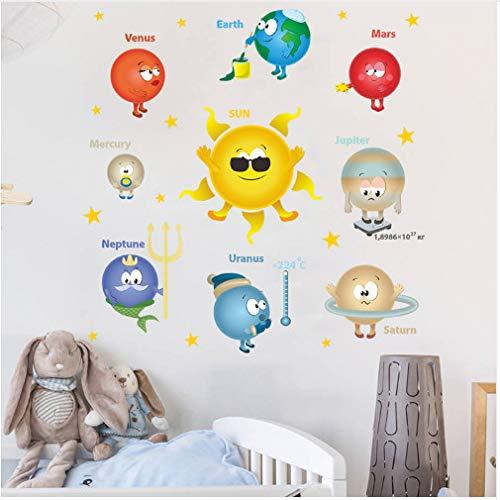 Weltraum Planet Solar Wandaufkleber im Klassenzimmer Kinderzimmer Dekoration Kindergarten Wandbild Kunst Wandtattoo 65 * 65 cm (Im Eule Klassenzimmer)