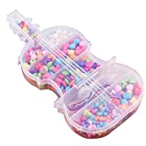 Giocattoli per bambini in rilievo colorato in rilievo Handmade Set Accessori regalo per i capretti L'ambliopia Hyperopia Beads formazione giocattolo (violino) 1 Set