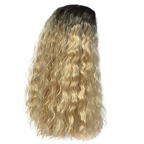 Setsail Beflecktes schwarzes Gold mit langem lockigem Haar Halloween Prinzessin Dunkelbraun Perücke Wig Waves Rolle Cosplay Kostüm Haar für Mädchen