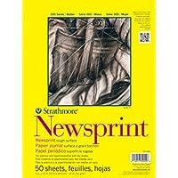 Strathmore Carta da Giornale Ruvida Carta Pad 18X 24-32Lb 50 Fogli