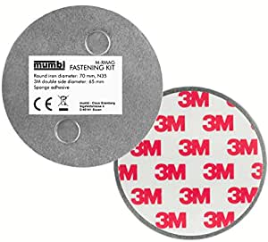 mumbi Magnet Befestigung für Rauchmelder Magnetbefestigung für glatte Flächen (NICHT für Rauhfaser oder losen Putz)