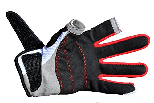 Musto Essential Sailing Long Finger Gloves in White AS0803 Sizes- - Large -