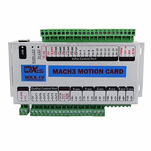ECO-WORTHY CNC MACH3 USB 3 Axis 400KHz Breakout Board Interface Motion Controller Card CNC Interface Breakout Driver Board - Inverter Duty Motor