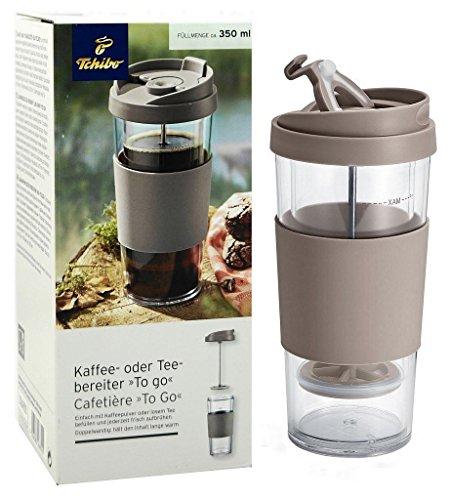 "TCM Tchibo Kaffee- oder Teebereiter \""To go\"", Doppelwandig, ca. 350 ml"